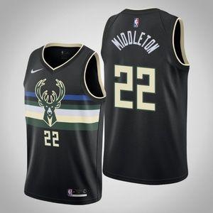 Men's Milwaukee Bucks #22 Khris Middleton Jersey
